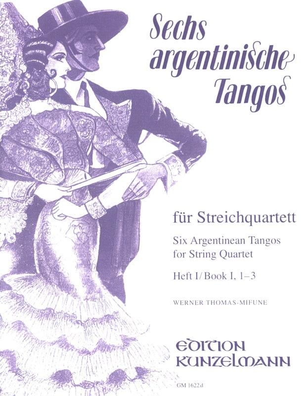 6 Argentinische Tangos, Heft 1 - Streichquartett - laflutedepan.com