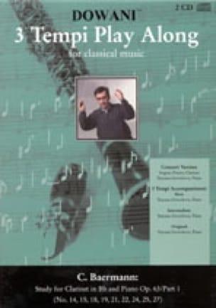 Etudes Clarinette op. 63 Part 1 - 2 CD - laflutedepan.com