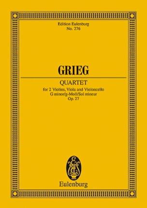 Streich-Quartett G-Moll, Op. 27 GRIEG Partition laflutedepan