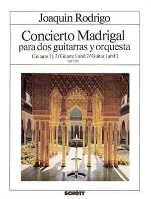 Concierto Madrigal - Gitarre 1 et 2 - RODRIGO - laflutedepan.com