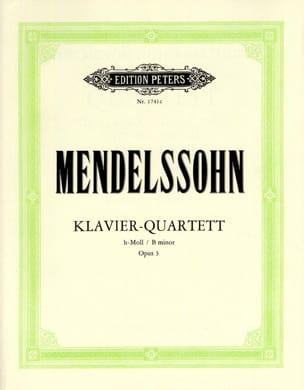 Klavierquartett h-moll op. 3 -Stimmen MENDELSSOHN laflutedepan