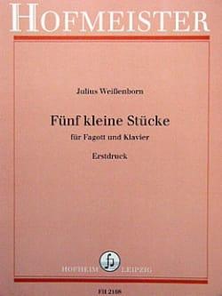 5 kleine Stücke Julius Weissenborn Partition Basson - laflutedepan