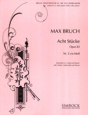 8 Stücke op. 83, n° 3 cis-moll - Klarinette Viola Klavier laflutedepan