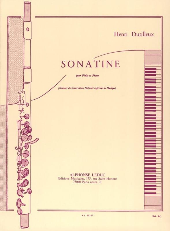 Sonatine - DUTILLEUX - Partition - laflutedepan.com