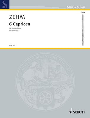 6 Caprices pour deux flûtes Friedrich Zehm Partition laflutedepan