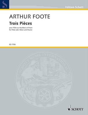 3 Pièces op. 31 - Flûte ou hautbois Arthur Foote laflutedepan