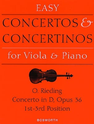 Concerto op. 36 D-Dur - Viola Oskar Rieding Partition laflutedepan