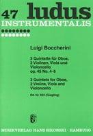 3 Quintette op. 45 Nr. 4-6 - Oboe 2 Violinen Viola Cello - Stimmen laflutedepan