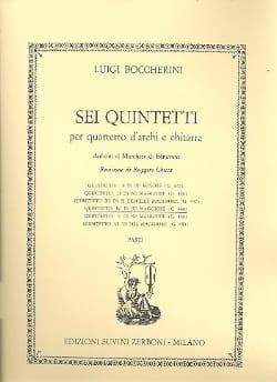 Quintetto n° 4 in re maggiore G. 448 -Parti BOCCHERINI laflutedepan