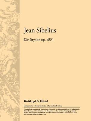 Die Dryade, Opus 45 N° 1 - Conducteur - SIBELIUS - laflutedepan.com