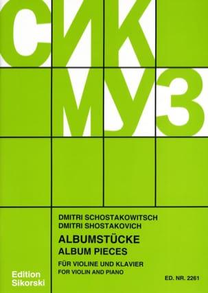 Albumstücke CHOSTAKOVITCH Partition Violon - laflutedepan