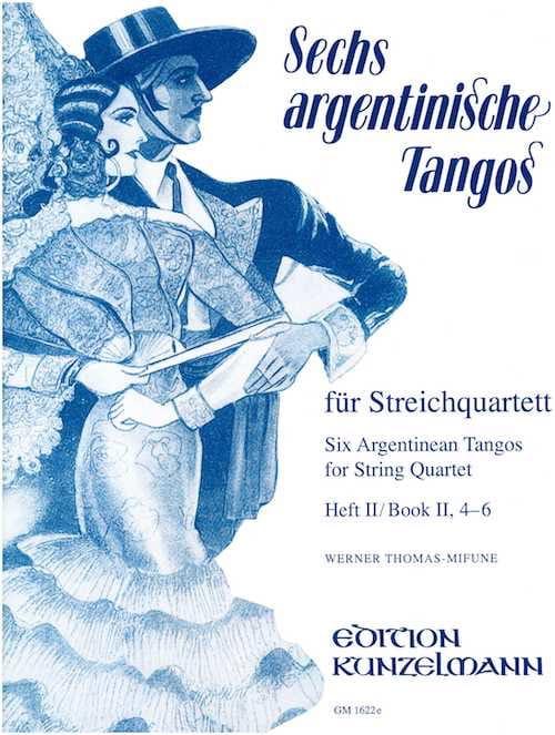 6 Argentinische Tangos, Heft 2 - Streichquartett - laflutedepan.com