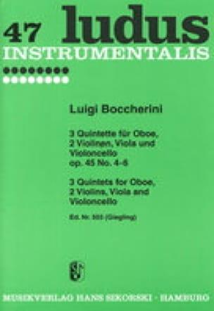 3 Quintette op. 45 Nr. 4-6 - Oboe 2 Violinen Viola Cello - Stimmen - laflutedepan.com