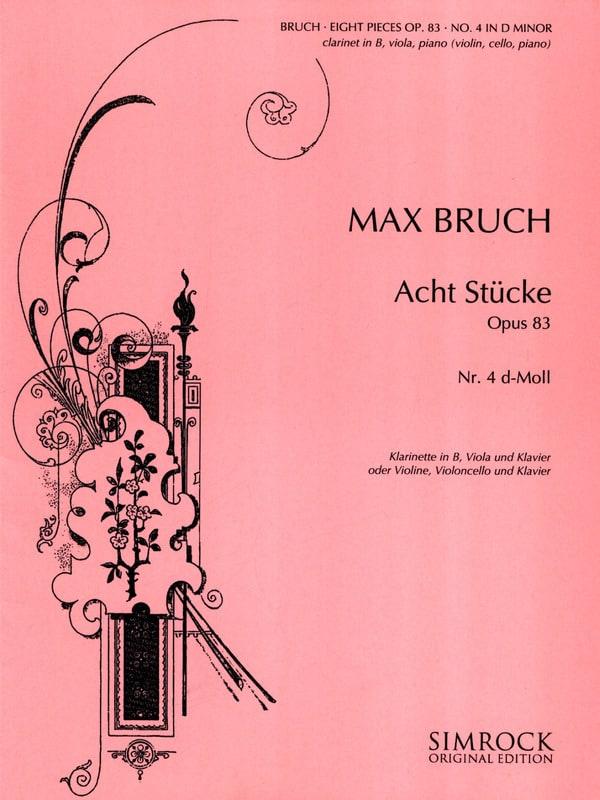 8 Stücke op. 83, n° 4 d-moll -Klarinette Viola Klarinette - laflutedepan.com