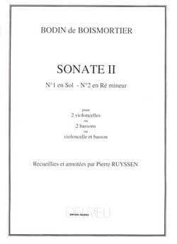 Sonate n° 2 en ré mineur - 2 Violoncelles BOISMORTIER laflutedepan