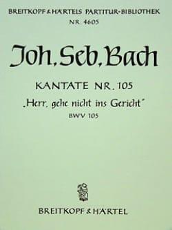 Kantate 105 Herr, Gehe nicht ins Gericht - Conducteur - laflutedepan.com