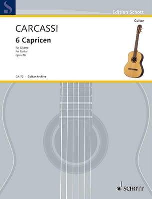 6 Capricen op. 26 - Matteo Carcassi - Partition - laflutedepan.com