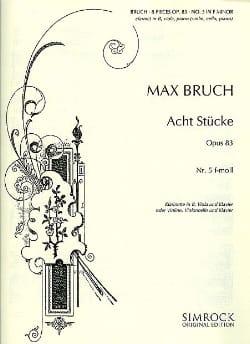 8 Stücke op. 83, n° 5 f-moll -Klarinette Viola Klavier laflutedepan