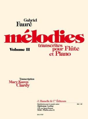 Mélodies, volume 2 FAURÉ Partition Flûte traversière - laflutedepan