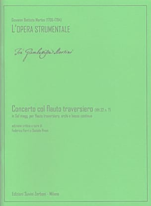 Concerto col flauto traversiero in Sol maggiore HH.32 n. 7 laflutedepan
