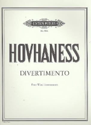 Divertimento op. 61 n° 5 -4 Wind instruments - Score + parts - laflutedepan.com