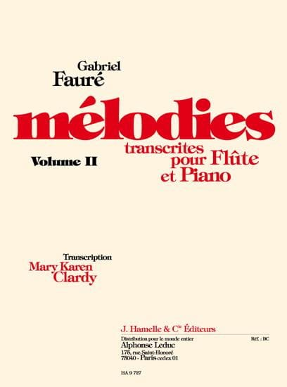 Mélodies, volume 2 - FAURÉ - Partition - laflutedepan.com