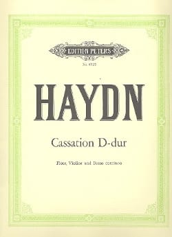 Cassation D-Dur Hob. 4 : d2 -Flöte, Violine u. Bc HAYDN laflutedepan
