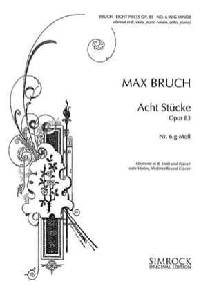 8 Stücke op. 83, n° 6 g-moll -Klarinette Viola Klavier laflutedepan