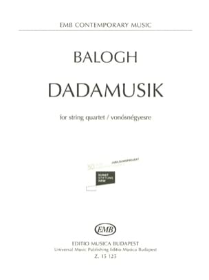 Dadamusik - Mate Balogh - Partition - Quatuors - laflutedepan.com