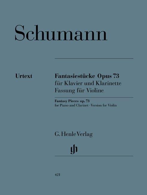 Fantasiestücke Op. 73 Version pour violon et piano - laflutedepan.com