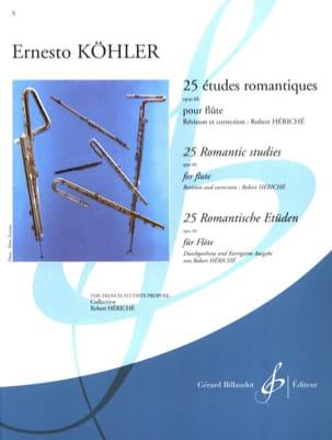 25 Etudes Romantiques op. 66 Ernesto KÖHLER Partition laflutedepan