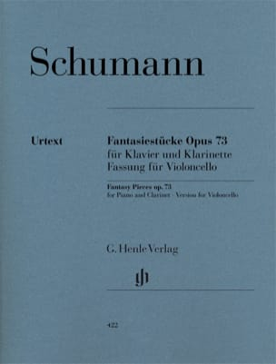 Fantasiestücke op. 73 - Violoncelle SCHUMANN Partition laflutedepan