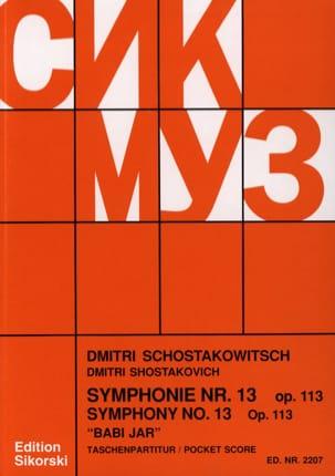 Symphonie Nr. 13, op. 113 - Partitur CHOSTAKOVITCH laflutedepan