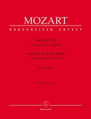 Fagottkonzert B-Dur KV 191 - Partitur MOZART Partition laflutedepan