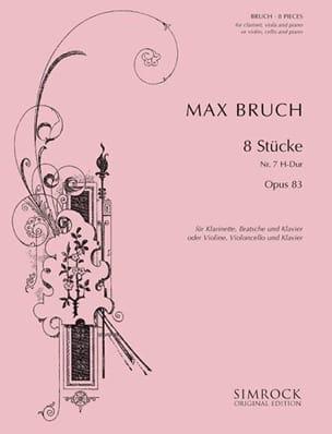 8 Stücke op. 83, n° 7 H-Dur - Klarinette Viola Klavier - laflutedepan.com