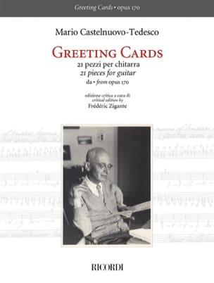 Mario Castelnuovo-Tedesco - Greeting Cards - Partition - di-arezzo.co.uk