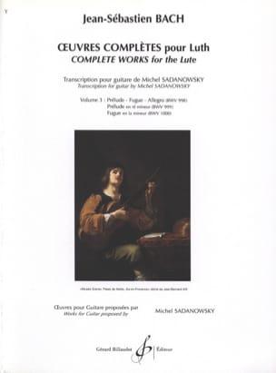 Oeuvres Complètes Pour Luth Volume 3 BACH Partition laflutedepan