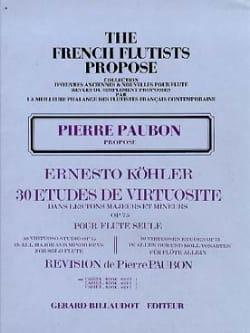 Ernesto KÖHLER - 30 Estudios de Virtuosidad op. 75 - Volumen 1 - Partition - di-arezzo.es