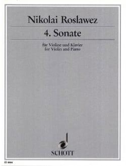 Sonate n° 4 - Violine Nikolai Roslawez Partition Violon - laflutedepan