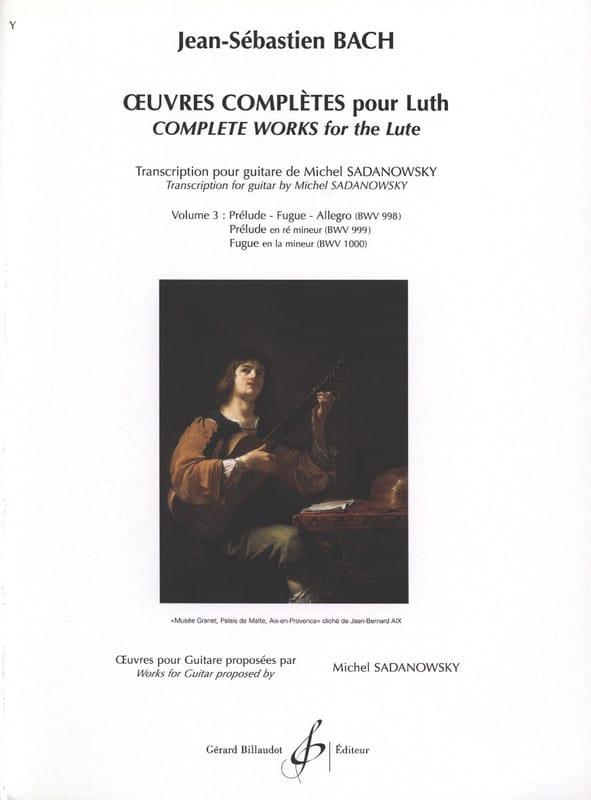 Oeuvres Complètes Pour Luth Volume 3 - BACH - laflutedepan.com