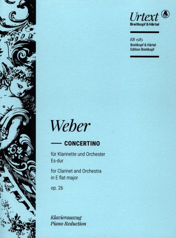 Concertino Es-Dur op. 26 -Klarinette Klavier - laflutedepan.com