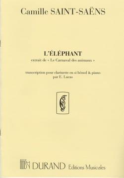 l'Eléphant SAINT-SAËNS Partition Clarinette - laflutedepan