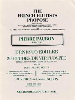 Ernesto KÖHLER - 30 Estudios de Virtuosidad op. 75 - Volumen 3 - Partition - di-arezzo.es
