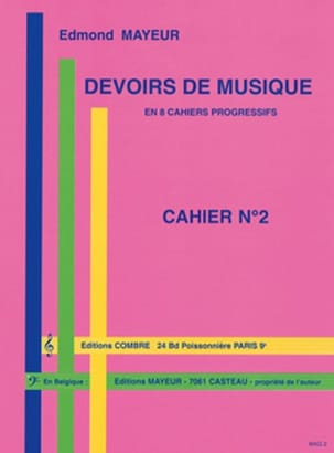 Edmond Mayeur - Duties of music n ° 2 - Partition - di-arezzo.co.uk