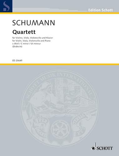 Quatuor en Ut Mineur - SCHUMANN - Partition - laflutedepan.com