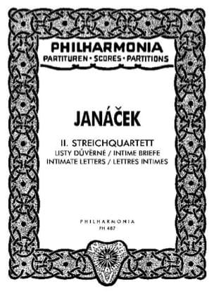 Streichquartett Nr. 2 - Partitur JANACEK Partition laflutedepan