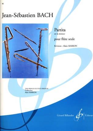Partita en la mineur BACH Partition Flûte traversière - laflutedepan