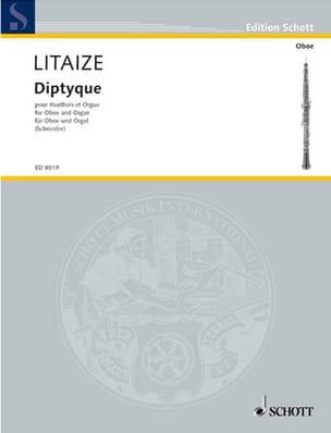 Diptyque Gaston Litaize Partition Hautbois - laflutedepan