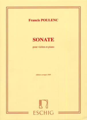 Sonate POULENC Partition Violon - laflutedepan
