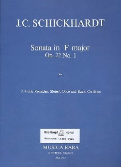 Sonata F major op. 22 n° 1 -2 Treble recorders oboe Bc laflutedepan